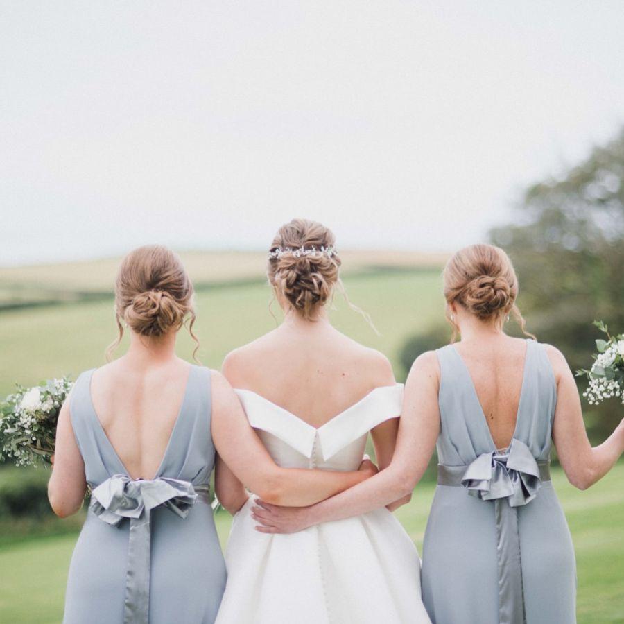 Real Bride - Hannah wearing Adeline hair vine