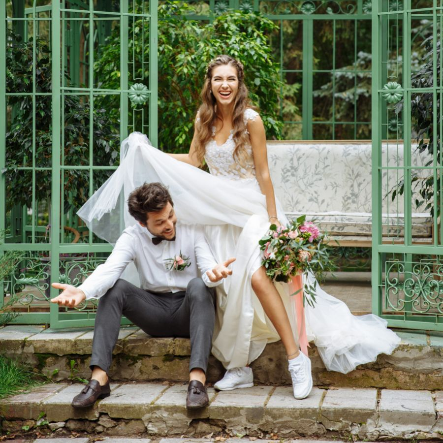 Stilettos or sneakers? Are Trainers The New Wedding Shoe?