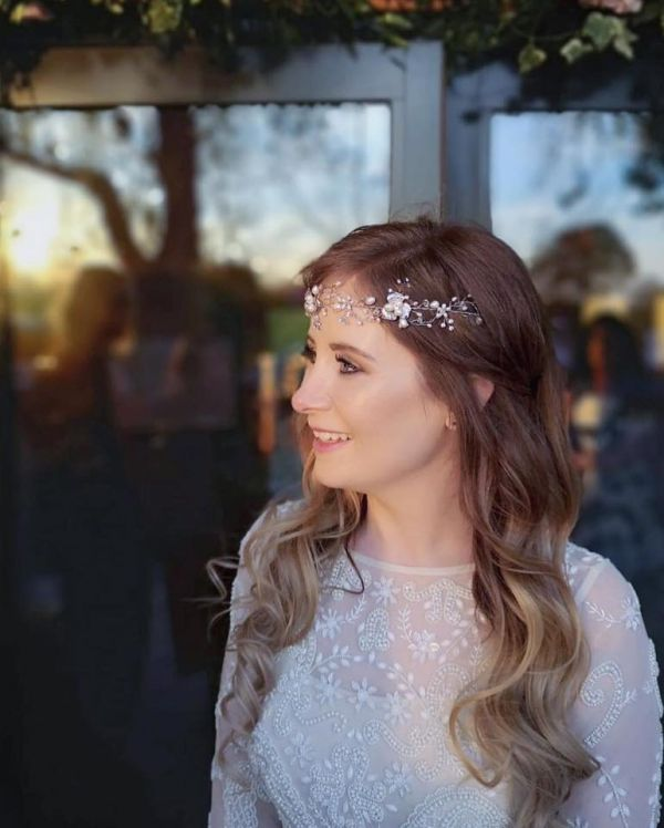 Photo of Ivory and Co Amy Floral Pearl Wedding Hair Vine uploaded by A on 31st March 2021