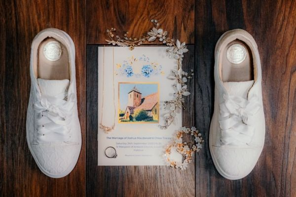 Photo of Perfect Bridal Pia Ivory Lace Wedding Trainers with Satin Ribbon uploaded by C on 31st March 2021