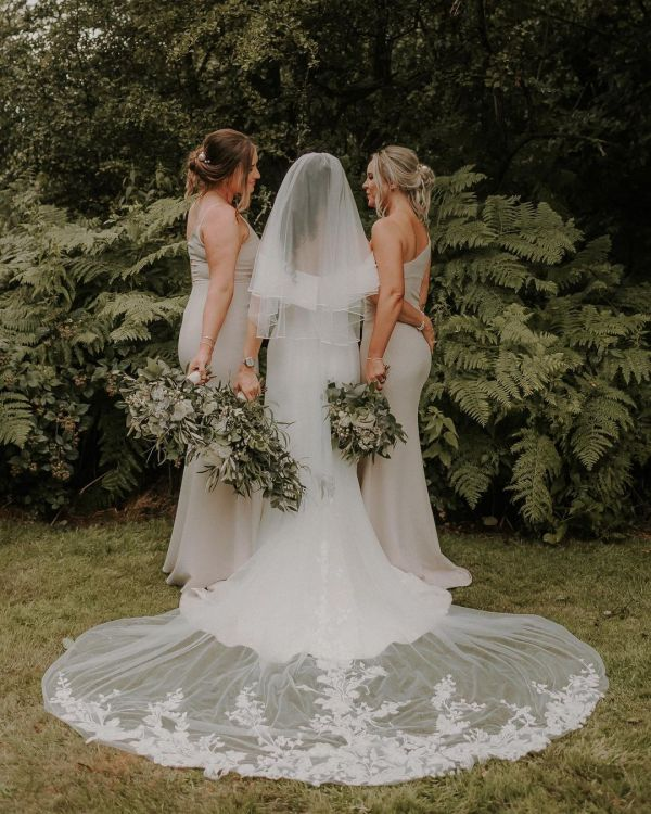 Photo of Rainbow Club Tosca Ivory Russian Braid Edge Veil uploaded by D on 20th September 2021