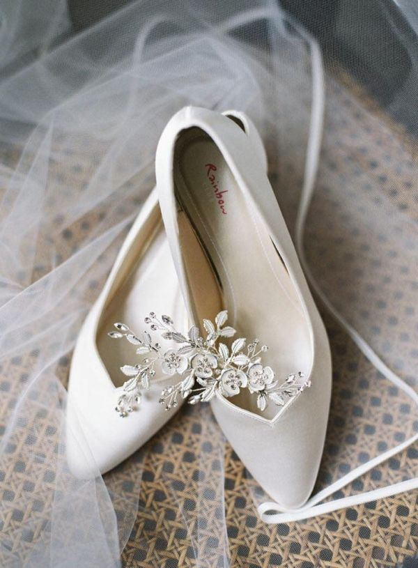 Photo of Rainbow Club Elizabeth Dyeable Ivory Satin Sweetheart Throat Court Shoes uploaded by E on 31st March 2021
