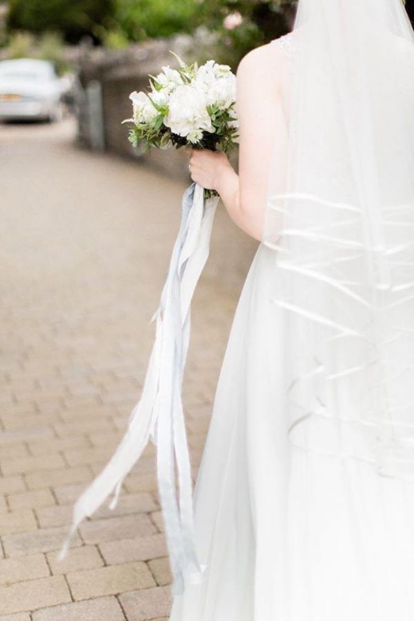 Photo of Joyce Jackson Barbados Double Row Satin Edge Veil uploaded by H on 31st March 2021