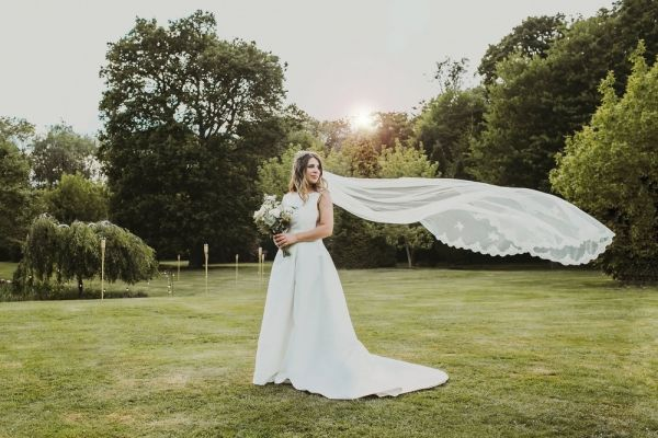 Photo of Joyce Jackson Bala Chapel Length Veil with Lace Motifs and Edging uploaded by L on 31st March 2021