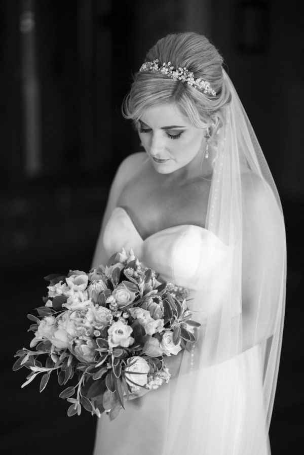 Photo of Arianna Evangeline Pearl Blossoms and Crystal Bridal Tiara AR569 uploaded by N on 3rd August 2021