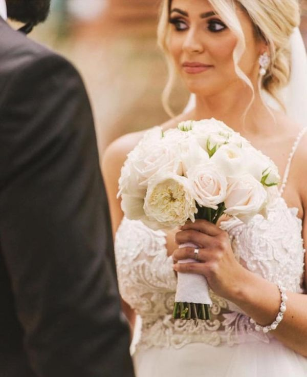 Photo of Lauren Pearl and Crystal Wedding Bracelet uploaded by PD on 9th March 2021
