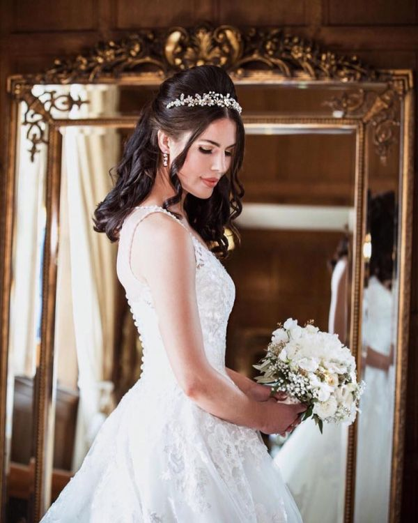 Photo of Arianna Evangeline Pearl Blossoms and Crystal Bridal Tiara AR569 uploaded by R on 31st March 2021