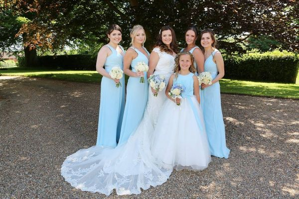 Photo of Linzi Jay Gathered Chiffon Bridesmaid Dress with Satin Band EN339 uploaded by R on 31st March 2021
