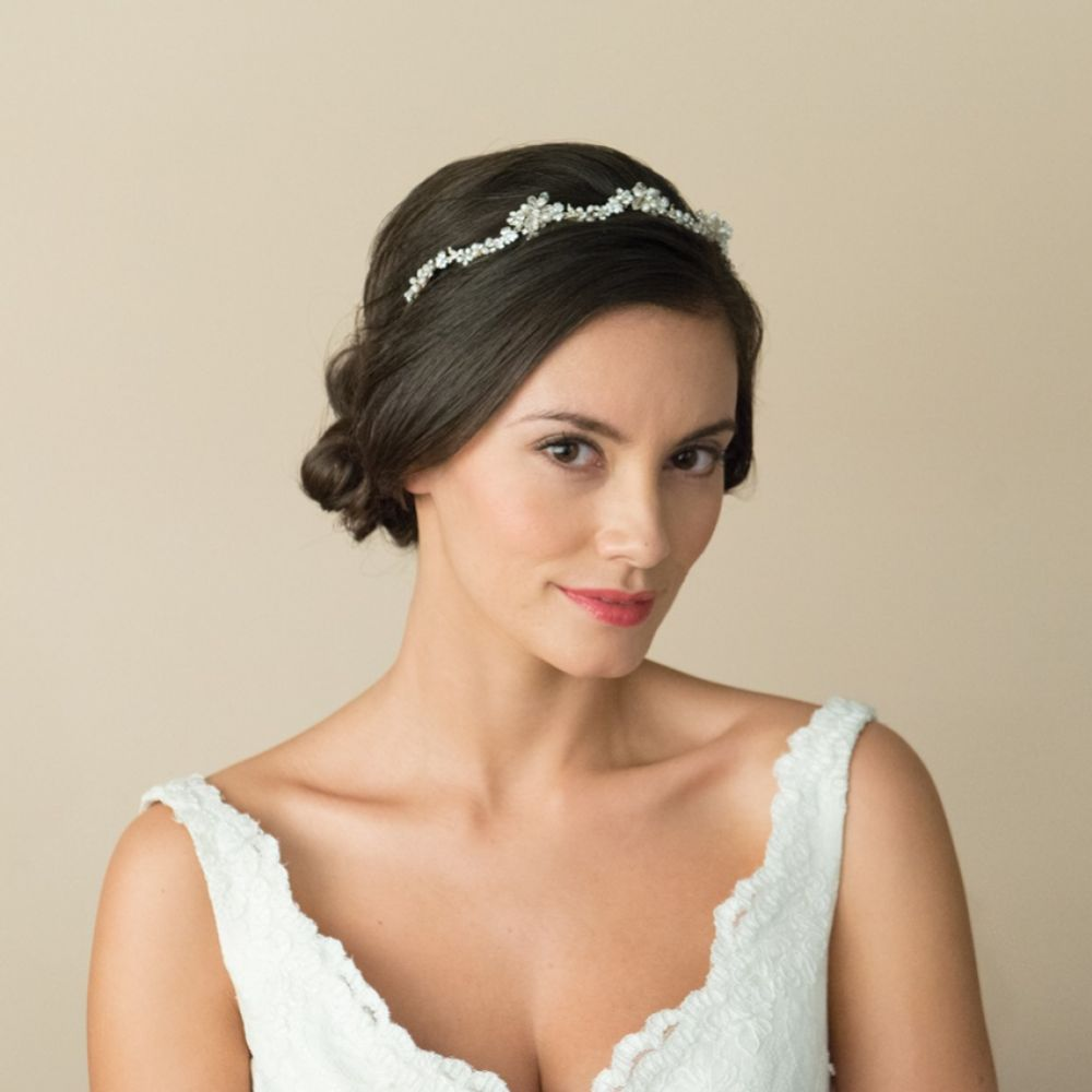 Ivory and Co Lynette Golden Floral Bridal Headpiece