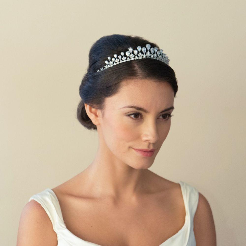 Ivory and Co Teardrop Vintage Inspired Crystal Bridal Tiara