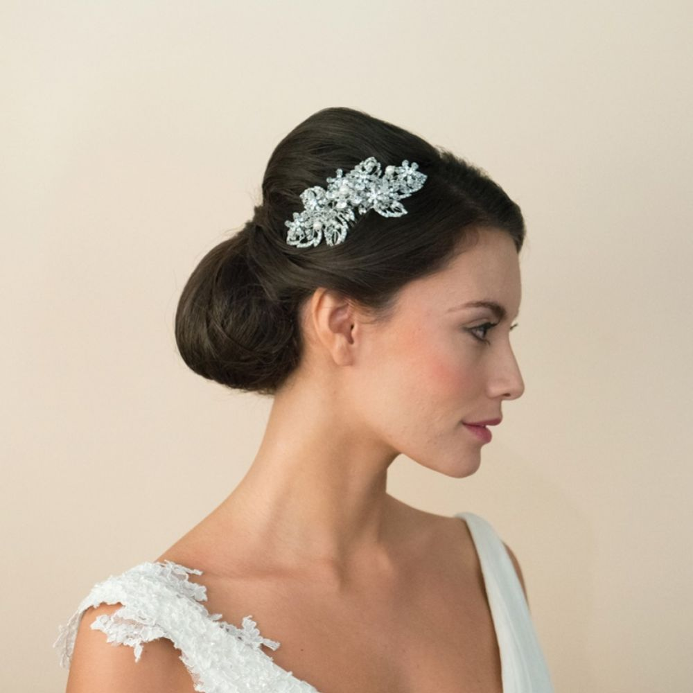 Ivory and Co Treasure Crystal and Pearl Floral Bridal Hair Comb