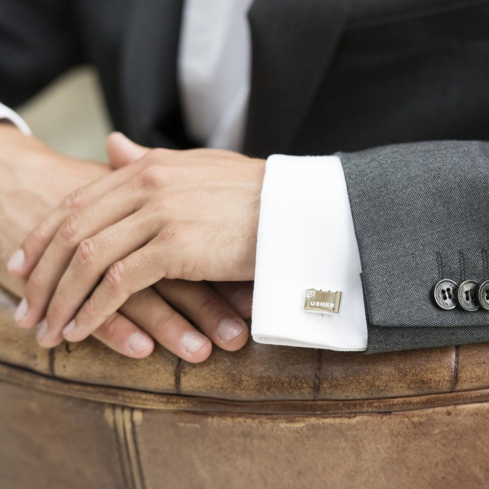 Ivory and Co Usher Cufflinks with Crystal Detail