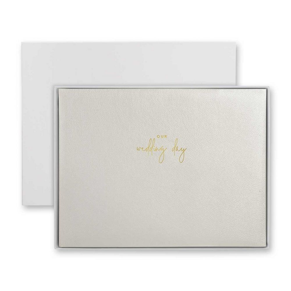 Katie Loxton 'Our Wedding Day' Pearlescent White Photo Album