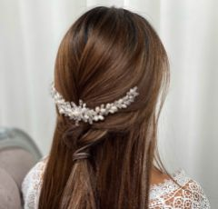 Annie Clustered Pearl and Crystal Bridal Headpiece