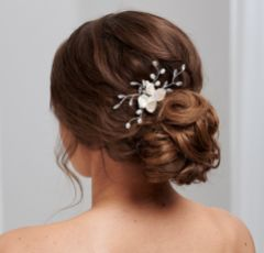 Aster Freshwater Pearl Flower Bridal Hair Comb