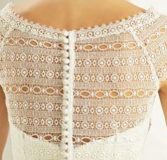 Bianco Ivory Boho Lace Short Sleeve Wedding Bolero E278