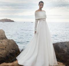 Bianco Ivory Wool Off The Shoulder Wedding Shrug E290