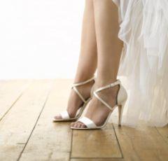 Harriet Wilde Arabella Ivory Satin Strappy Bridal Sandals