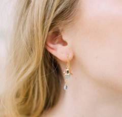 Hermione Harbutt Nereides Amazonite Gold Droplet Earrings