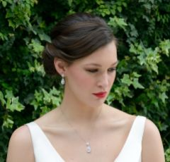 Ivory and Co Bacall Crystal Pendant Necklace