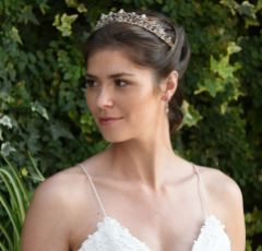 Ivory and Co Beatrix Rose Gold Vintage Inspired Crystal Tiara