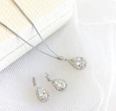 Ivory and Co Belmont Crystal Drop Wedding Earrings