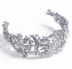 Ivory and Co Jade Clustered Crystal Wedding Headpiece