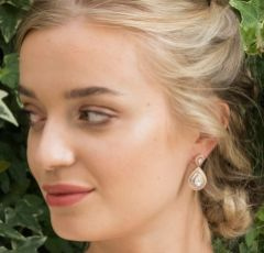 Ivory and Co Montgomery Rose Gold Art Deco Crystal Wedding Earrings