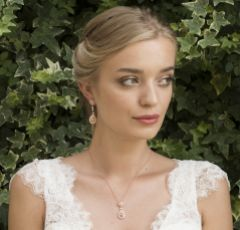 Ivory and Co Moonstruck Rose Gold Crystal Bridal Jewellery Set