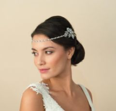 Ivory and Co Morgan Floral Draped Wedding Headpiece