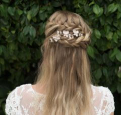 Ivory and Co Petunia Rose Gold Vine of Flowers Wedding Hair Comb