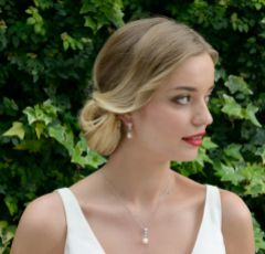 Ivory and Co Serrano Pearl Drop Wedding Earrings