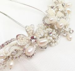 Ivory and Co Silver Pearl Crescent Bridal Hair Comb