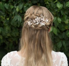 Ivory and Co Siren Rose Gold Enamelled Floral Bridal Hair Clip