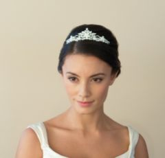 Ivory and Co Stephanie Floral Crystal Bridal Tiara