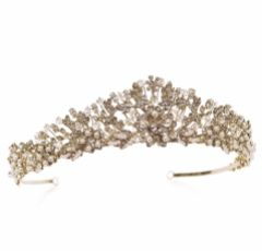 Ivory and Co Trinity Gold Vintage Inspired Floral Bridal Tiara