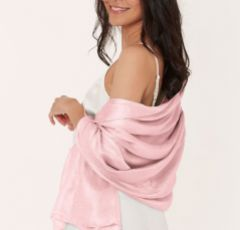 Katie Loxton 'Maid of Honour' Wrapped Up In Love Boxed Pale Pink Silky Scarf