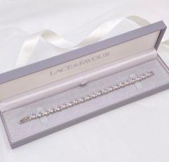 Langham CZ Crystal Hearts Wedding Bracelet