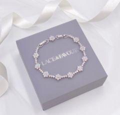 Lanesborough Floral Crystal Embellished Wedding Bracelet