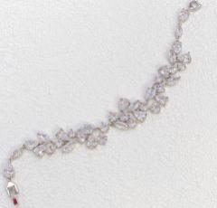Lilibeth Cubic Zirconia Wedding Bracelet