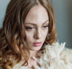 Olivia Champagne Ruffle Feather Bridal Stole