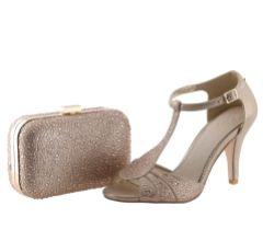 Perfect Bridal Sammy Gold Crystal Studded Clutch Bag