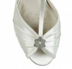 Pink Paradox Perfume Dyeable Ivory Satin T-Bar Wedding Shoes