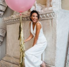Rachel Simpson Olivia Soft Grey Velvet and Glitter T-Bars