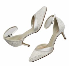 Rainbow Club Darcey Dyeable Ivory Lace Two Part Court Shoes