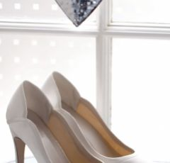 Rainbow Club Lucy Dyeable Ivory Satin Wedding Court Shoes