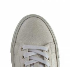 Rainbow Club Millie Ivory Shimmer Sparkly Wedding Trainers