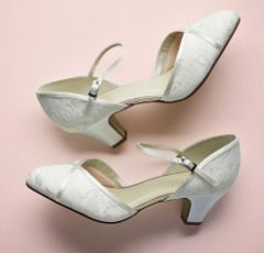 Rainbow Club Shirley Dyeable Ivory Lace Wide Fit Wedding Shoes