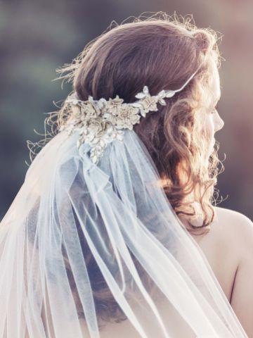 Gaia Bohemian Inspired Floral Veil
