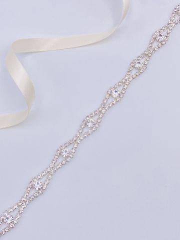 Harper Narrow Diamante Chain Bridal Belt